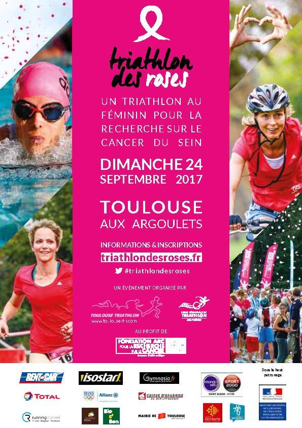 Flyer du Triathlon des Roses 2017