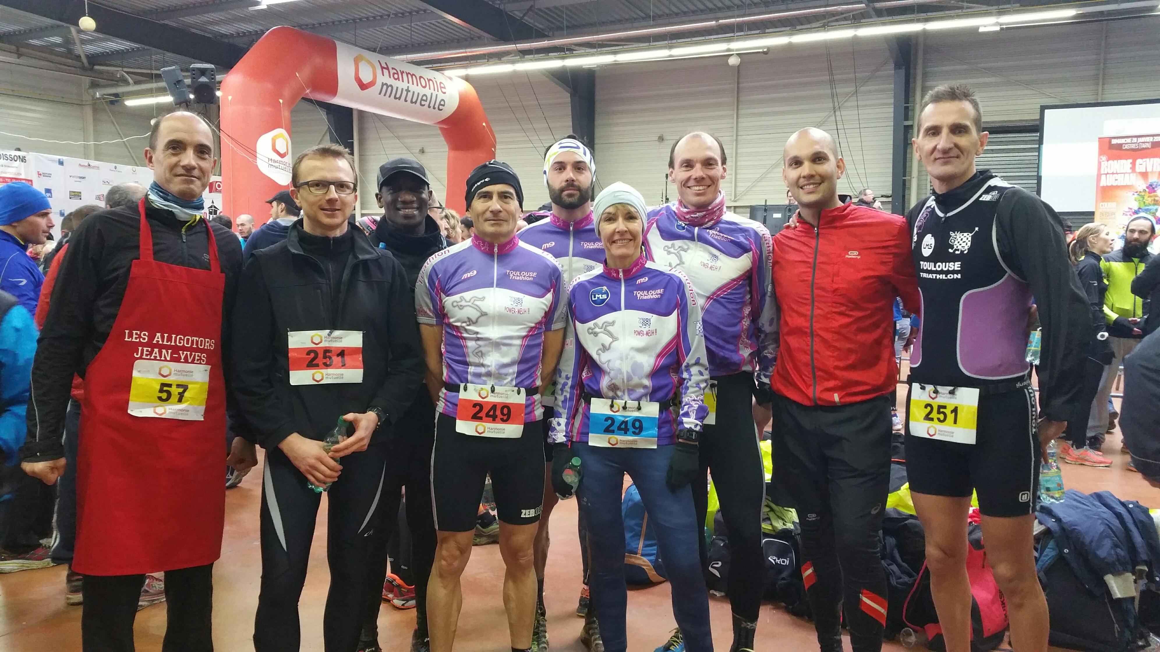 Le groupe des vachettes à la Ronde Givrée 2018