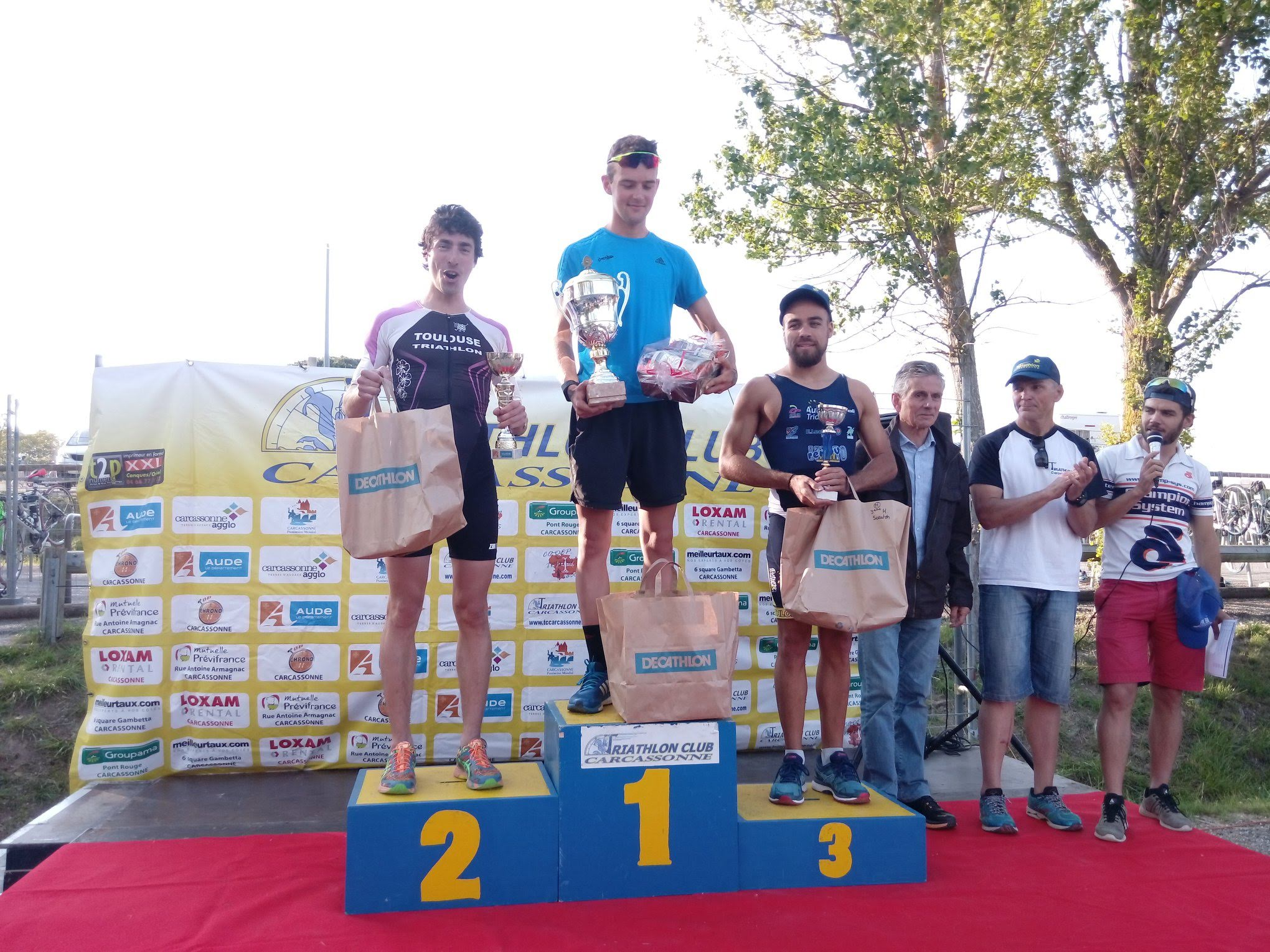 Triathlon M de Carcassonne 2018 - Podium scratch H