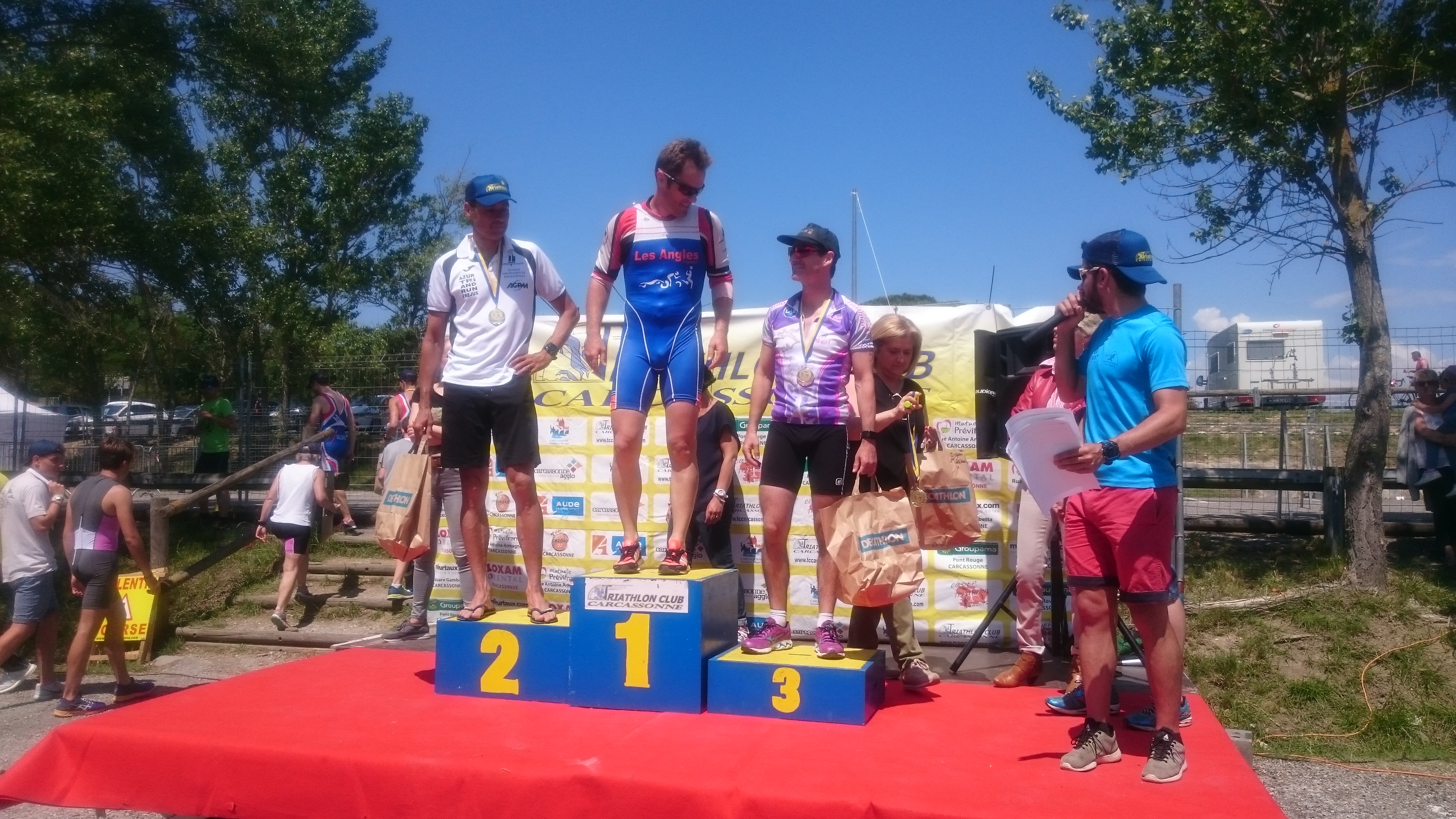 Triathlon S de Carcassonne 2018 - Podium VEM