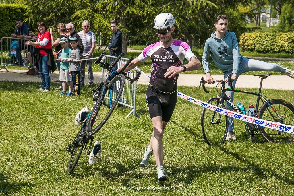 Damien au triathlon d'Auch 2018