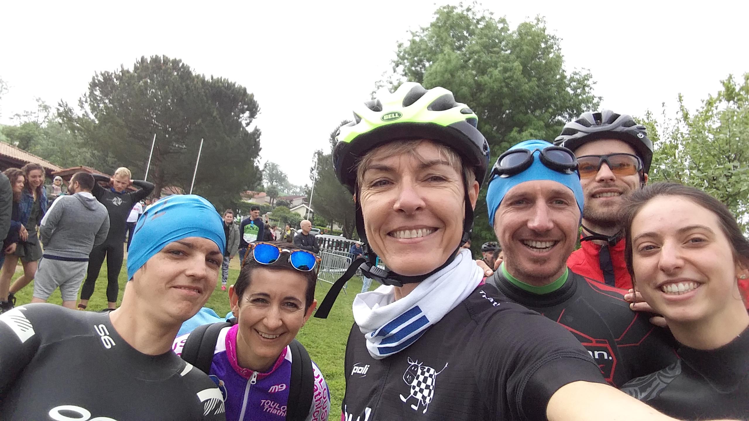 Les équipes relais au triathlon d'Auch 2018