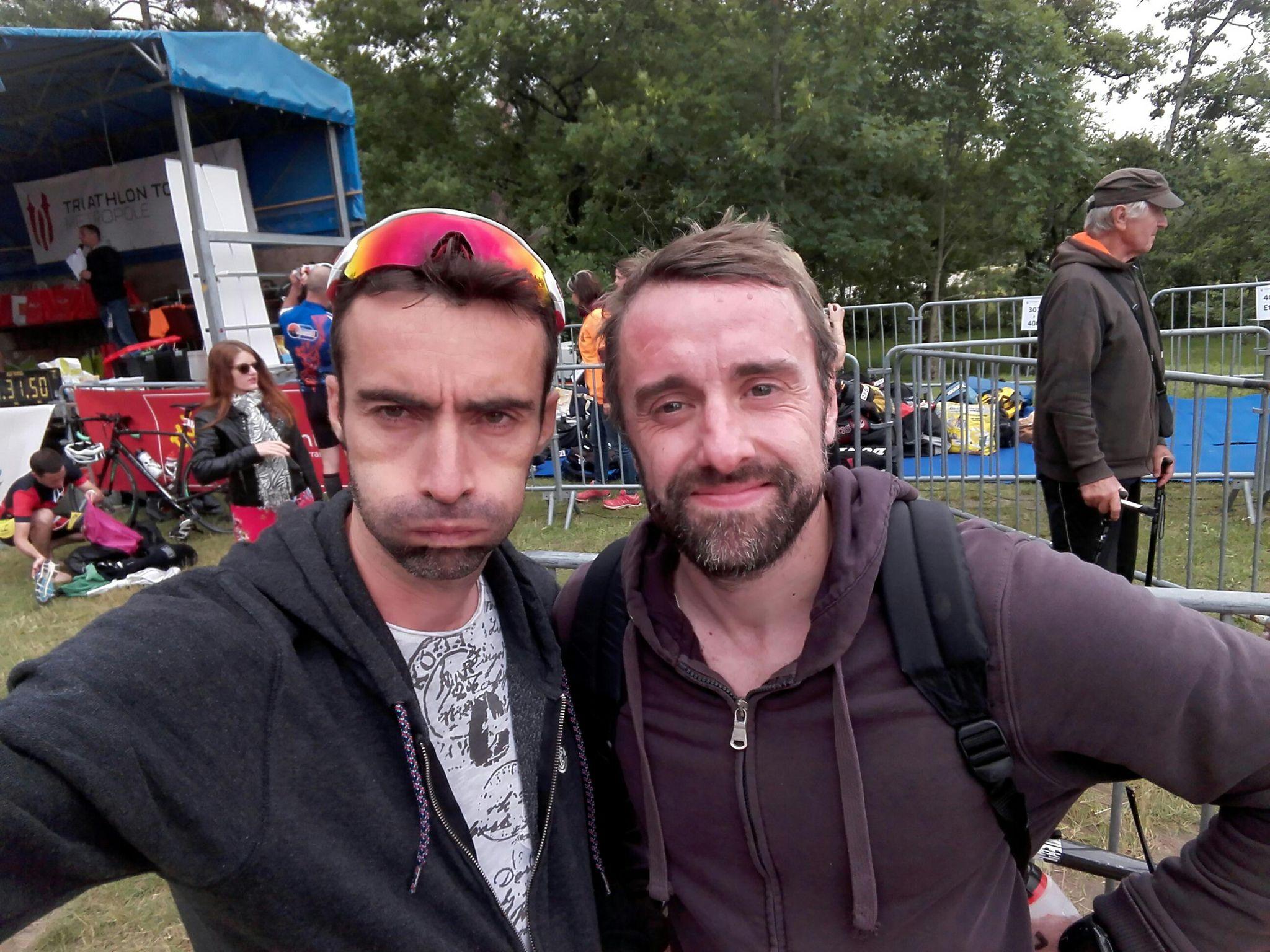 Valentin et Damien au triathlon de Revel 2018