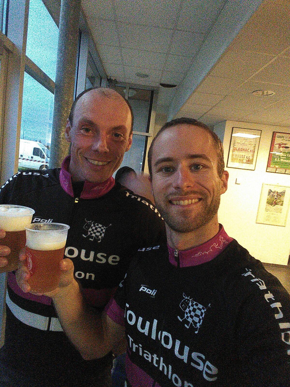 La bière après le Trail des Caouecs