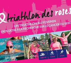 Il est là, le flyer du Triathlon des Roses 2018