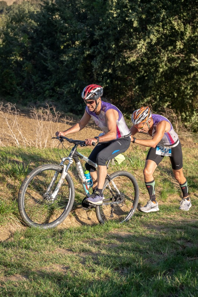 Michel et Fabrice au Run and Bike de Péchabou 2018