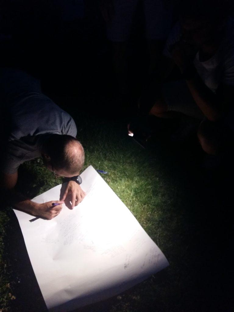 Signature du poster pour Bastien